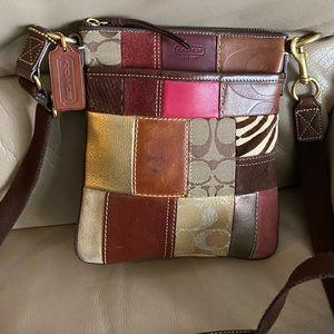 Authentic vintage patchwork Coach crossbody Purse